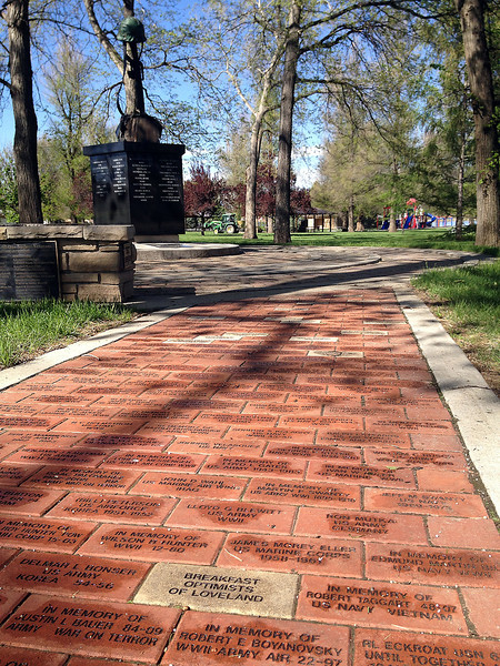 A Veterans Memorial was established in 2005 at Dwayne Webster Veterans Park to honor all veterans. At the base of a sculpture of a rifle with a helmet resting on the butt are the names of veterans who died in action. A brick pathway leading up to the sculpture contains the names of veterans - past and present - and supporters.