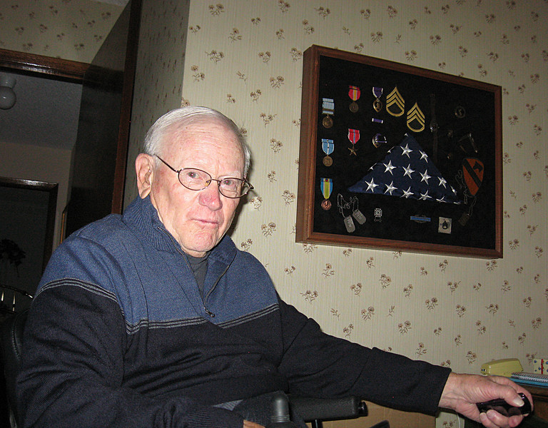 Duane Stickler served as a sergeant in the Korean War in 1951.