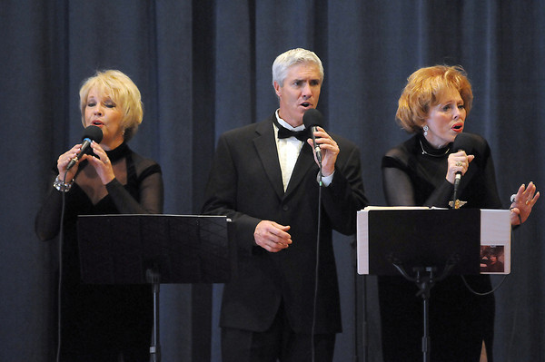 """The group """"Three of Us"""" perform Sunday at the Elks Lodge in downtown Loveland. From left are, Kara Glover, Clifford Fiske and Sharon Sheets."""