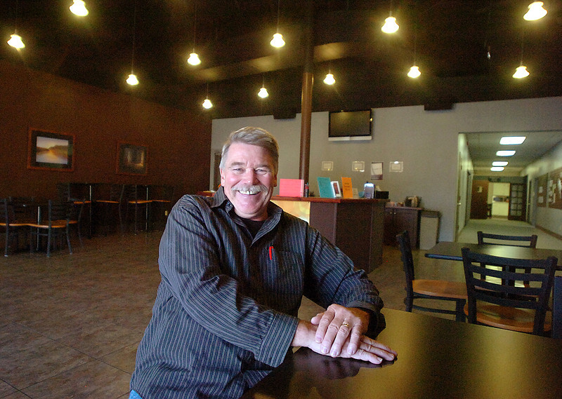 Pastor Vern Vandertop poses for a photo at The Vinyard Church in Loveland.