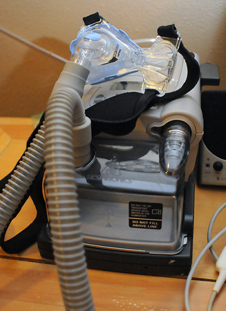 This Continuous Positive Airway Pressure machine is used to treat sleep apnea where a person actually stops breathing which can cause interrupted sleep.