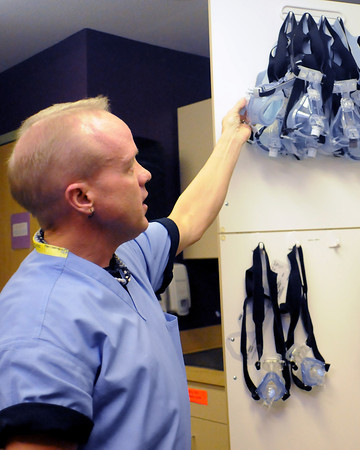 Sleep technician Troy Morgenstern explains the different mask types available to treat sleep apnea.