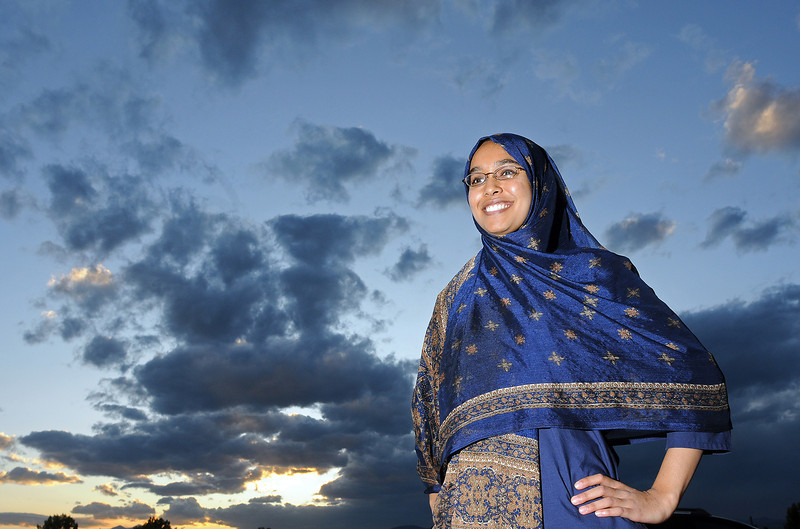 Loveland High School senior Amani Moin scored a 36 - a perfect score- on the ACT withoud studying more than the preparatio she did in class.