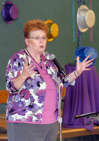 Loveland resident Katy Little tells a story during the Loveland Seniors Got Talent show on Wednesday at the Chilson Senior Center. Little finished in second place.