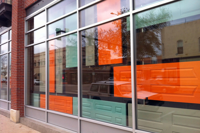 Marketing company Tenfold Collective is moving out of its space at the corner of Fourth Street and Cleveland Avenue in downtown Loveland, but it's leaving its signature display of 29 doors behind.