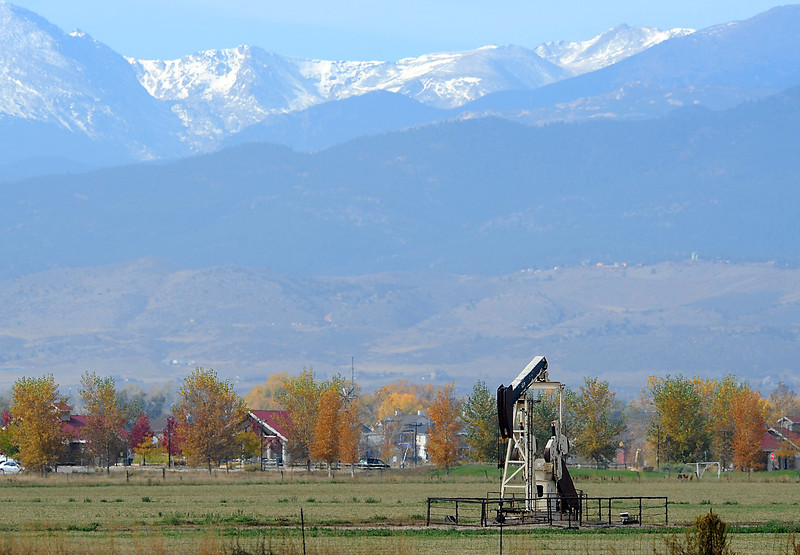 The McDonough No 1 oil well, just south of The Marketplace at Centerra on East Eisenhower Boulevard, is one of a handful of producing wells within the city. Loveland's city council on Tuesday will conduct a public study session on regulating oil and natural gas exploration and production.