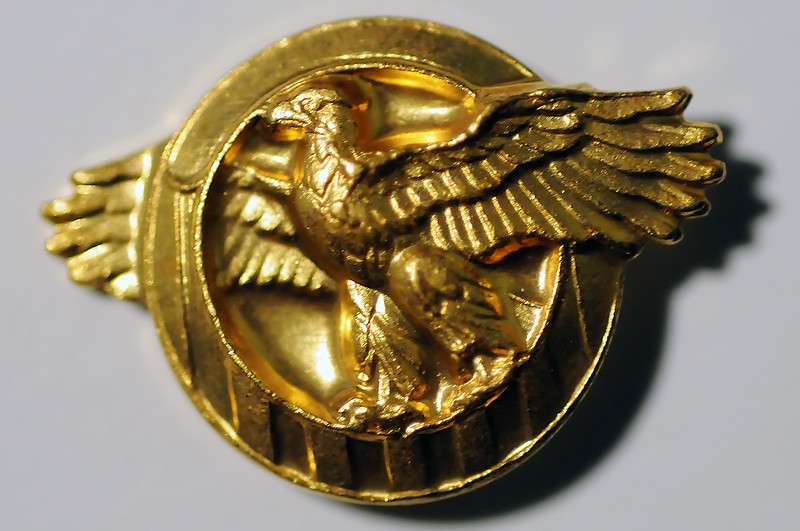 One of the awards given to Eaton resident Ret. Senior Chief Petty Officer William M. Dudley was the Honorable Service Lapel Pin, also known as the Ruptured Duck, and signifies honorable discharge from the service for all military branches.