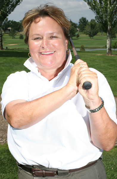 Lauren Howe poses for a portrait at the Olde Course at Loveland on Saturday.