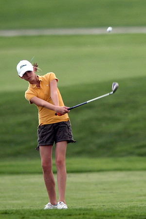 Jane Rodger hits a shot during the Loveland Optimist Junior Tournament on Monday, June 6, 2011 at The Olde Course at Loveland.