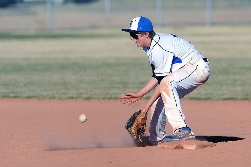 Resurrection Christian School shortstop Brett Bakersky during a game against Berthoud on Friday, March 23, 2012 at RCS. The Cougars won in five innings, 12-2.