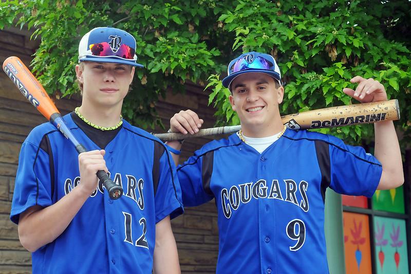 All-area baseball players from Resurrection Christian School are freshman Jake Lohr, left, and senior Caleb Boehler.