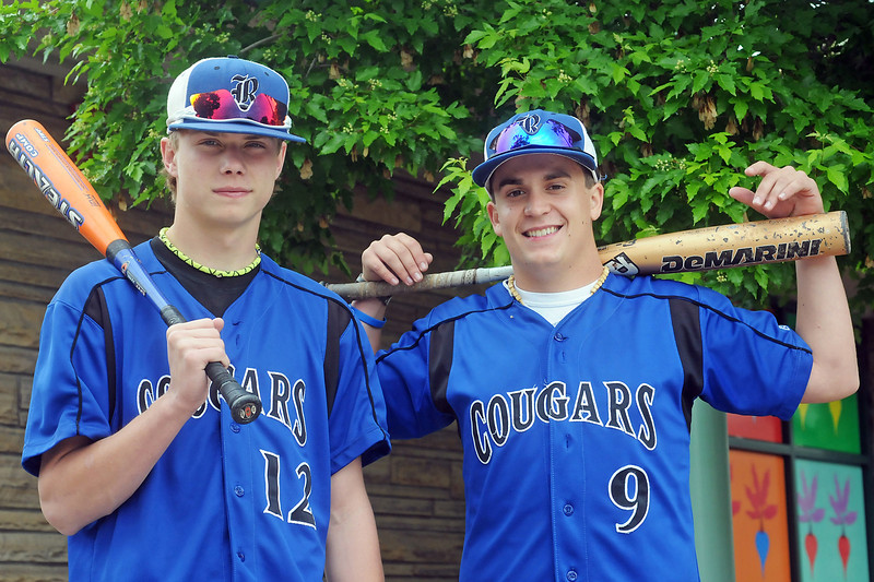 All-area baseball players from Resurrection Christian School are freshman Jake Lohr, left, and senior Caleb Boehler.