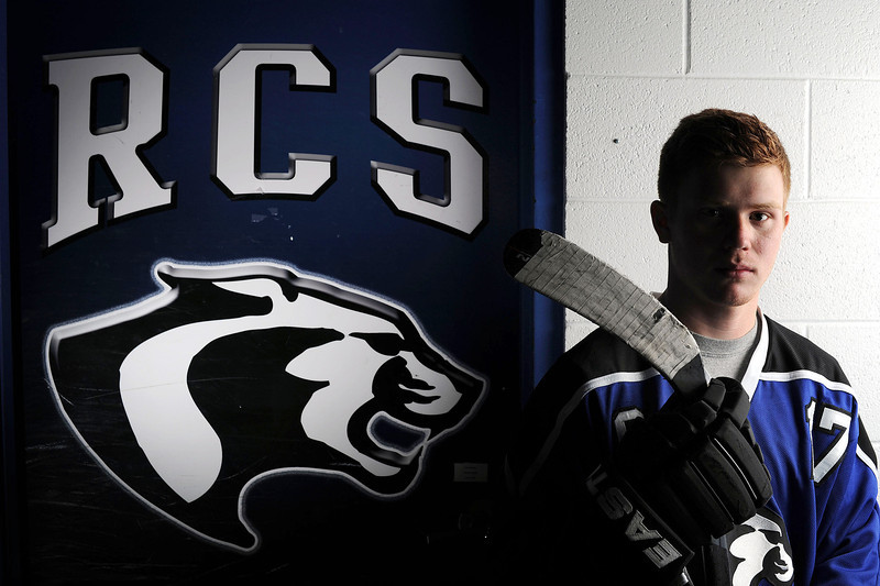 "Mcallaster Miller, 18, of Resurrection Christian High School is this year's Reporter-Herald player of the year for hockey. Miller lead the first-year team to take 3rd in this year's State Championships. ""I lead a lot by my actions,"" said Miller who along with his father Scott Miller, was instrumental in bringing the team to the school. ""I work hard and keep my mouth shut."""