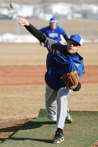 Resurrection Christian School's Chance Richardson throws a pitch during practice Wednesday, March 6, 2013 at the school.
