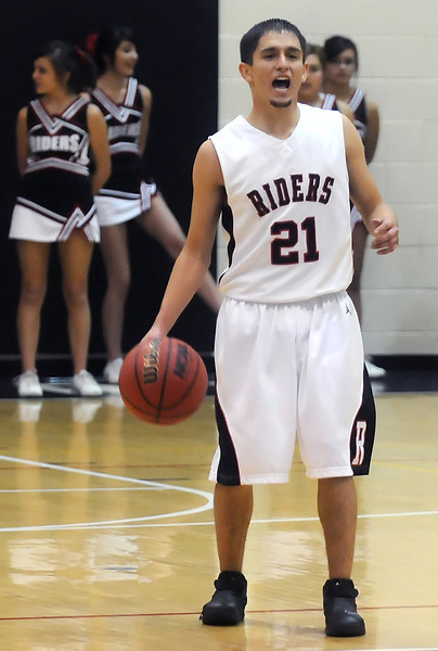 Roosevelt High School senior Jordan Grado during a game against Berthoud on Tuesday, Jan. 4, 2011 at RHS.