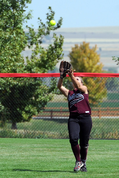 Berthoud High School's Lindsey Karlin during a game against Roosevelt on Saturday, Sept. 22, 2012 at Nelson Farm Park in Johnstown.