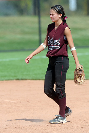 Berthoud High School shortstop Samie Kouns during a game against Roosevelt on Saturday, Sept. 22, 2012 at Nelson Farm Park in Johnstown.