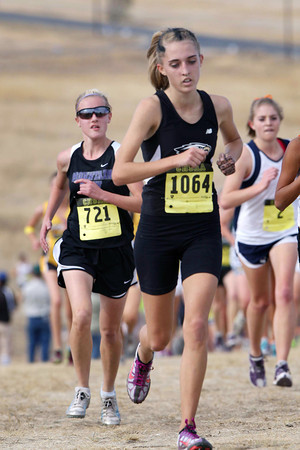 Thompson Valley High School's 1064 runs in a class 4A State Cross Country Championship at the Arapahoe County Fairgrounds on Oct. 30 in Aurora. (Heather A. Longway/ The Reporter-Herald)