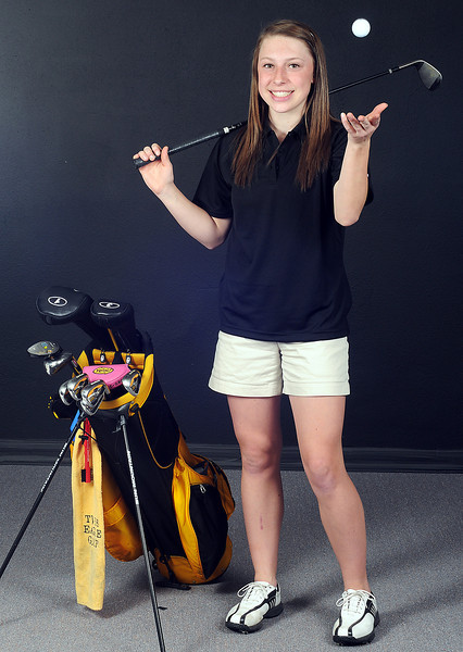 Thompson Valley High School sophomore Lauren Mickelson returns to the school's golf team this season.