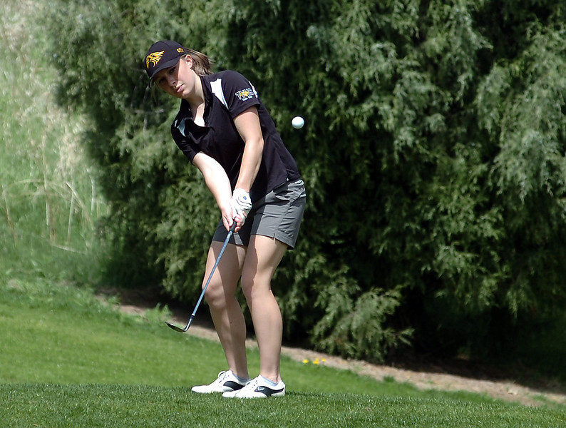 Thompson Valley's Lauren Mickelson Monday at Mariana Butte.