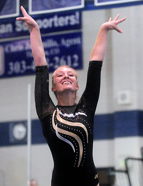 Ashleigh Waterland of Thompson Valley High School took home the All-Around first place trophy to pace the Eagles in their 3rd place finish at the state meet on Saturday in Thornton.