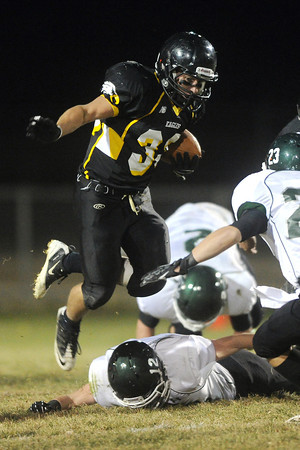 Thompson Valley High School running back Ryan Pinn during a game against Niwot on Thursday, Nov. 1, 2012 at Patterson Stadium.