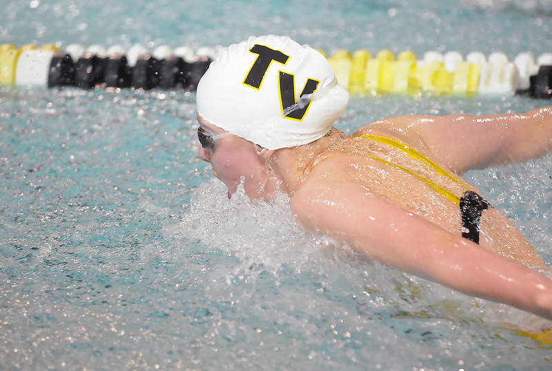 Thompson Valley High School's Nicole Hlavacek swims in the 200-yard individual medley finals during the Northern Conference West Swimming and Diving Championships on Saturday, Feb. 6, 2010 at the Hewson Aquatic Center.