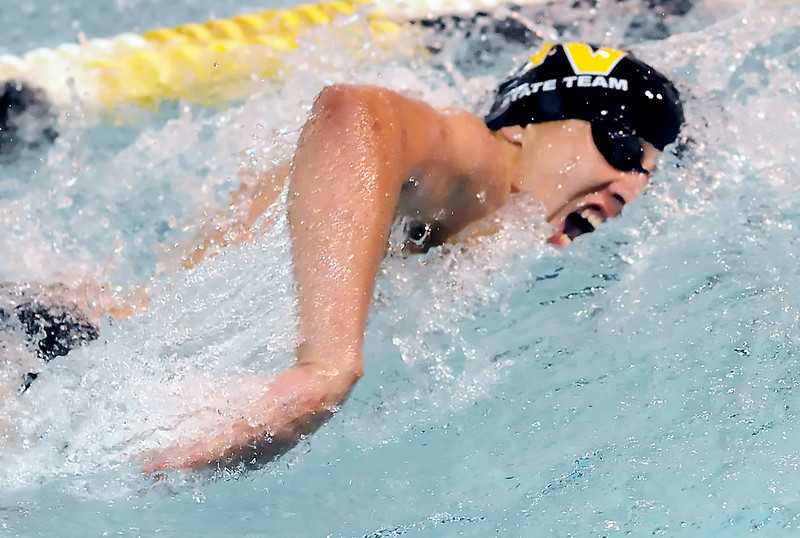 Thompson Valley High School's Adonis Reiler swims in the 100-yard freestyle finals during the Northern Conference Championships on Saturday, May 15, 2010 at the Dick Hewson Aquatic Center.