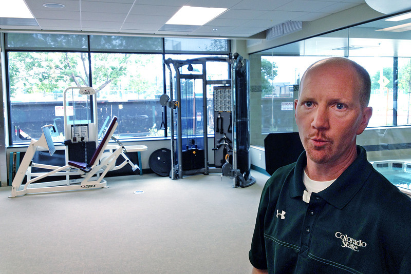 Terry DeZeeuw, Colorado State University associate athletic director for sports performance, talks about the refurbished training and sports medicine center on Thursday, Aug. 2013 on-campus in Fort Collins, Colo. (Photo by Mike Brohard/Loveland Reporter-Herald)