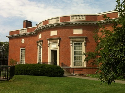 View of Houghton Library