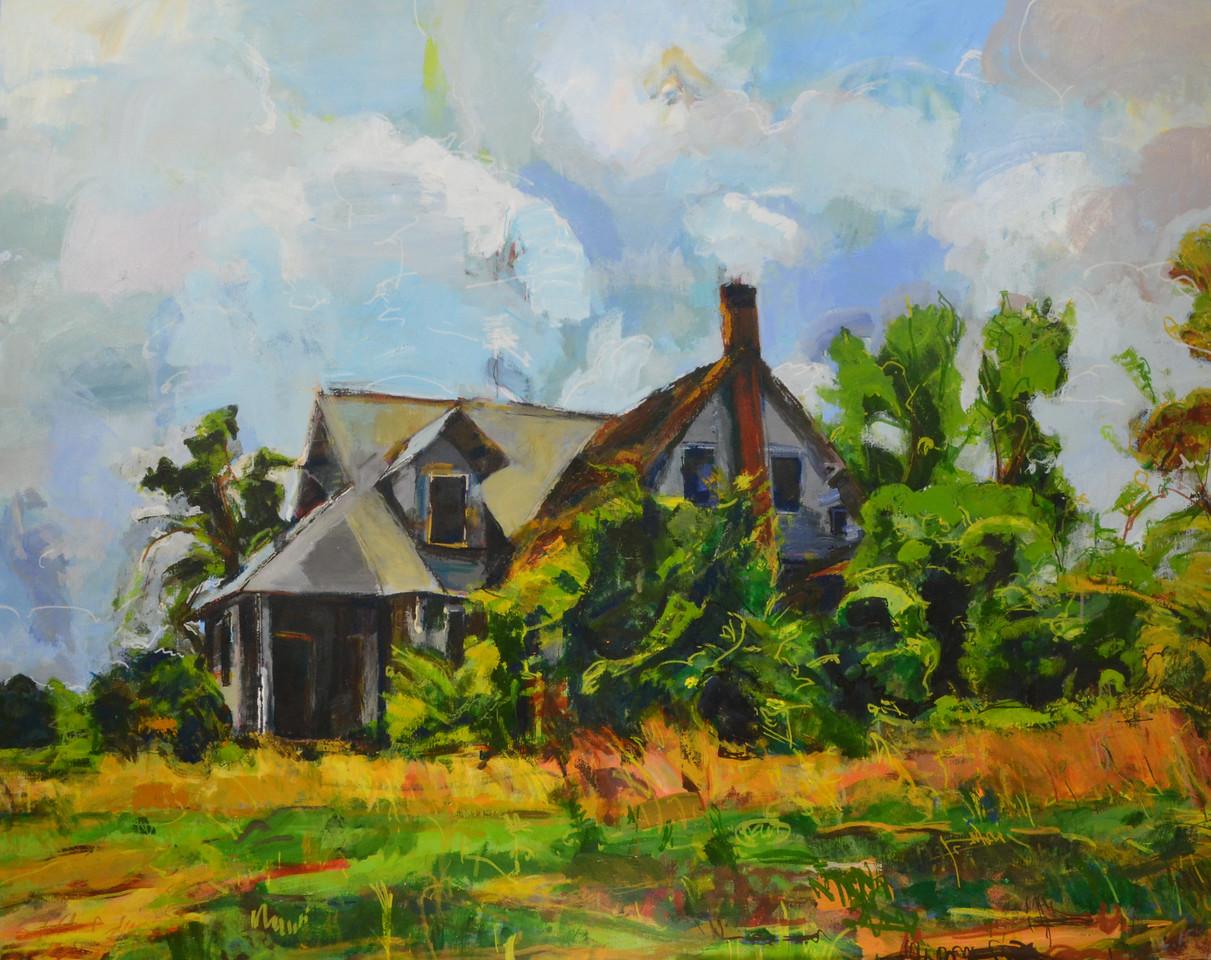 "Abandoned House 2  Acrylic on canvas  h48""w60"" 2016"