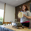 Donna Phillips from the Museum of Science in Boston brought three reptiles to the Fitchburg Public Library for the kids to see. The kids listen to Phillips as she shows them a red footed tortoise and talks about a turtle shell she brought to show them. SENTINEL & ENTERPRISE/JOHN LOVE