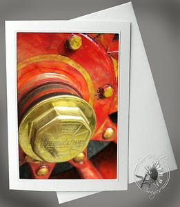 Antique Fire Truck Wheel close-up FAR101