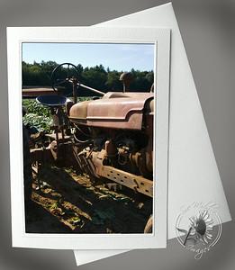 Tractor in tobacco field FAR118