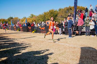 Norman High's Colin Berryhill races at the 6A boys state championship cross country meet at Edmond Santa Fe High School on Saturday, Nov. 2, 2019, in Edmond, Oklahoma. (Joe Buettner / The Transcript)