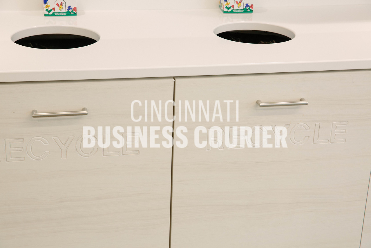 The cafe features recycling programs at Quotient in the new Kenwood Collection building on Friday September 30 2016 in Cincinnati, OH. (Josh Anderson for Cincinnati Business Courier)