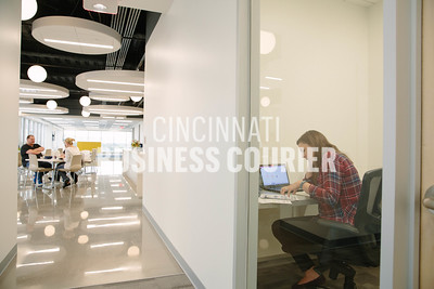 A quiet room for phone calls at Quotient in the new Kenwood Collection building on Friday September 30 2016 in Cincinnati, OH. (Josh Anderson for Cincinnati Business Courier)