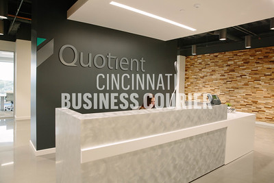 The front desk at Quotient in the new Kenwood Collection building on Friday September 30 2016 in Cincinnati, OH. (Josh Anderson for Cincinnati Business Courier)