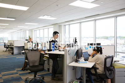 The sales department at Quotient in the new Kenwood Collection building on Friday September 30 2016 in Cincinnati, OH. (Josh Anderson for Cincinnati Business Courier)