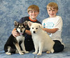 Two kids, two puppies. It can't get much better. All Katie's puppies have now found homes.