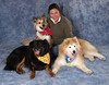 Sadie and her Mom, with Gracie and Biscotti