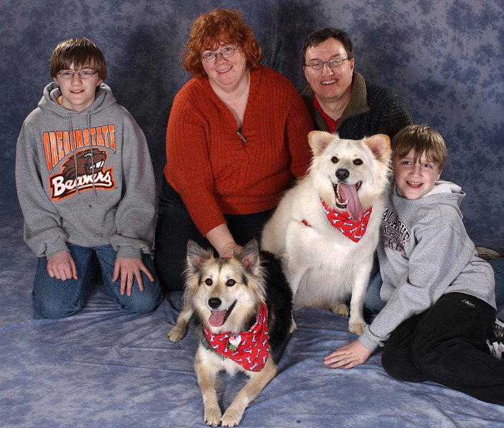 Sparkle and Cubby with their family