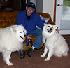 Mishka, Harry (Tundra's new dad), and Tundra.