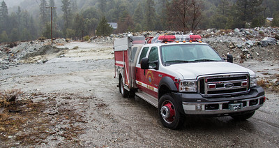 Stn 99 checking local flood zones during a winter storm in Forest Falls calif (By Brandon Barsugli)