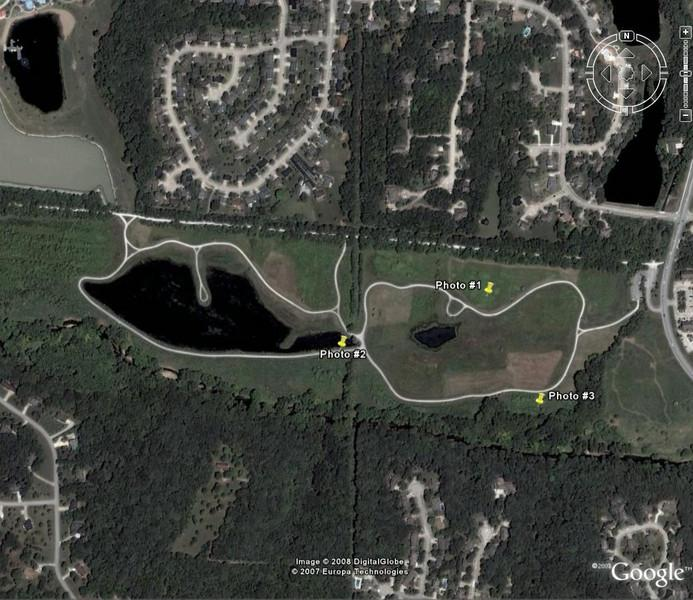Google Earth View of Forum Nature Area.