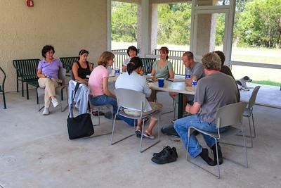 Meeting in the BIRL breezeway