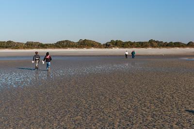 Cabretta Beach collecting