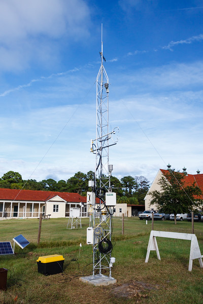 GCE flux tower assembly at UGAMI