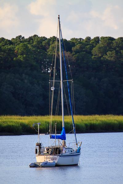Sailboat in the Duplin River