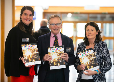 22/02/2018. Research Sparks in Waterford Institute of Technology. Pictured are Aisling O'Neill WIT, Professor Willie Donnelly President of WIT and, Picture: Patrick Browne
